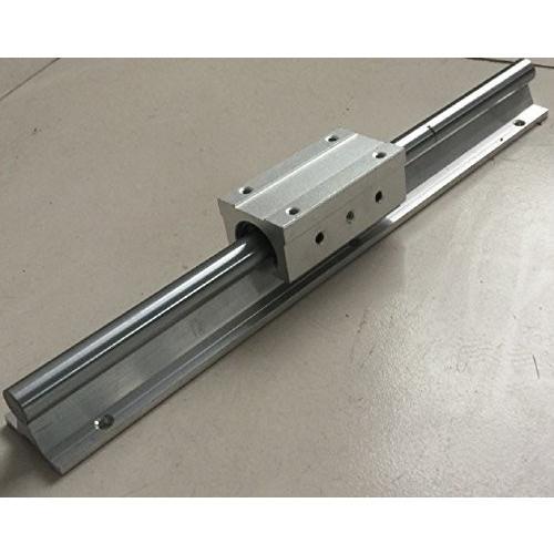 テンハイTEN-HIGH リニアレール リニアウェイ CNC部品 ペアリングユニット付き SBR16+SBR16LUU 直径16mm 長さ650mm