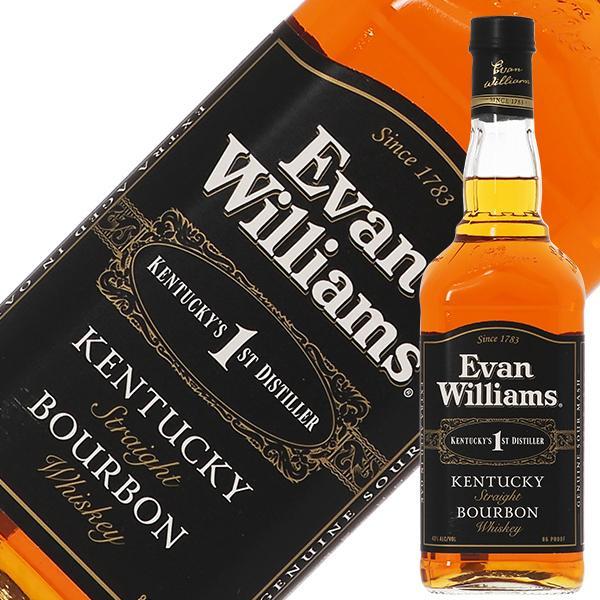 ウイスキー エヴァン ウィリアムス ブラックラベル 43度 箱なし 750ml 並行 バーボン 洋酒 whisky|felicity-y