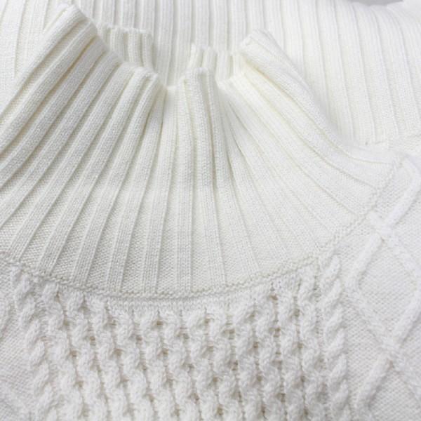 Apaiser lame(アぺゼラム)アラン編み柄ベルスリーブタートルセーター|femme|15