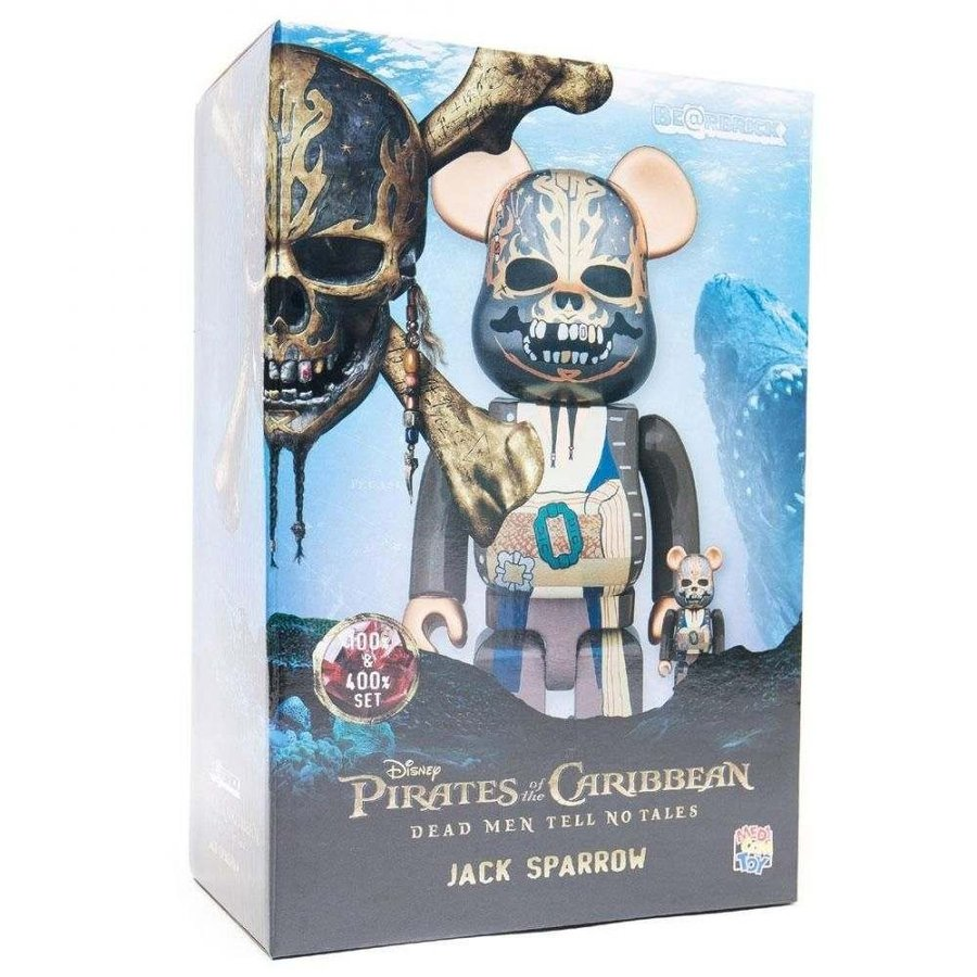 Medicom BE@RBRICK Jack Sparrow 100/% 400/% Bearbrick Set Pirates of the Caribbean