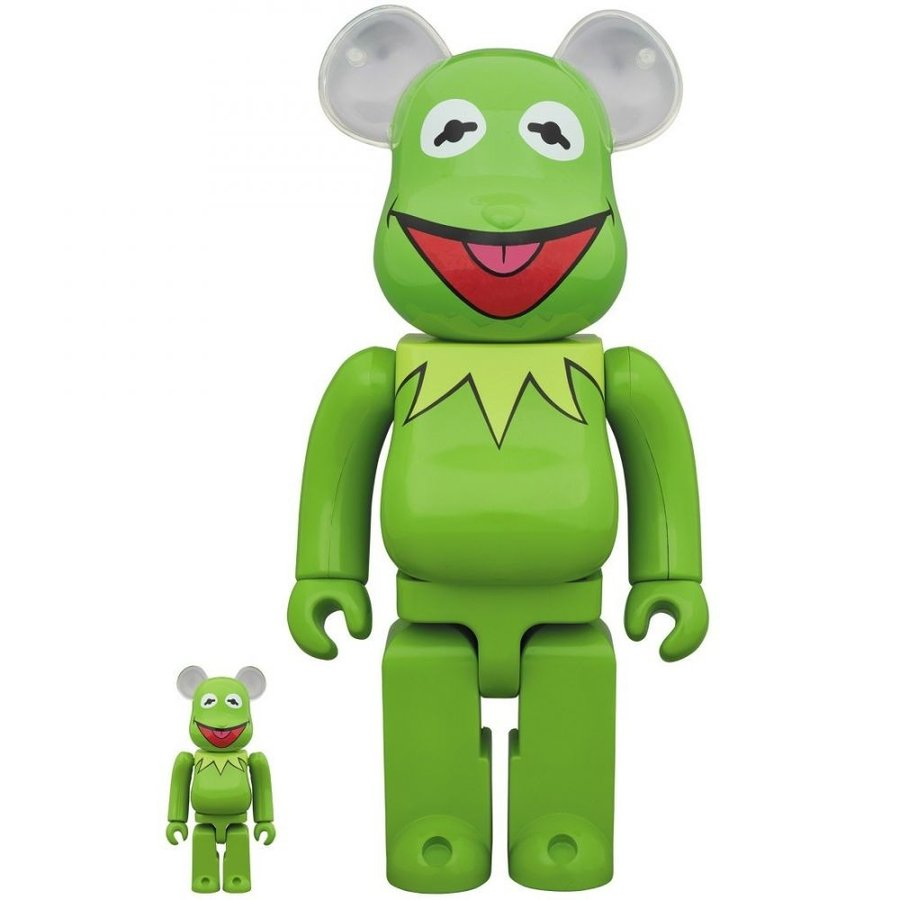 New Medicom Toy Bearbrick 100/% 400/% Set The Muppets Kermit the Frog Be@rbrick