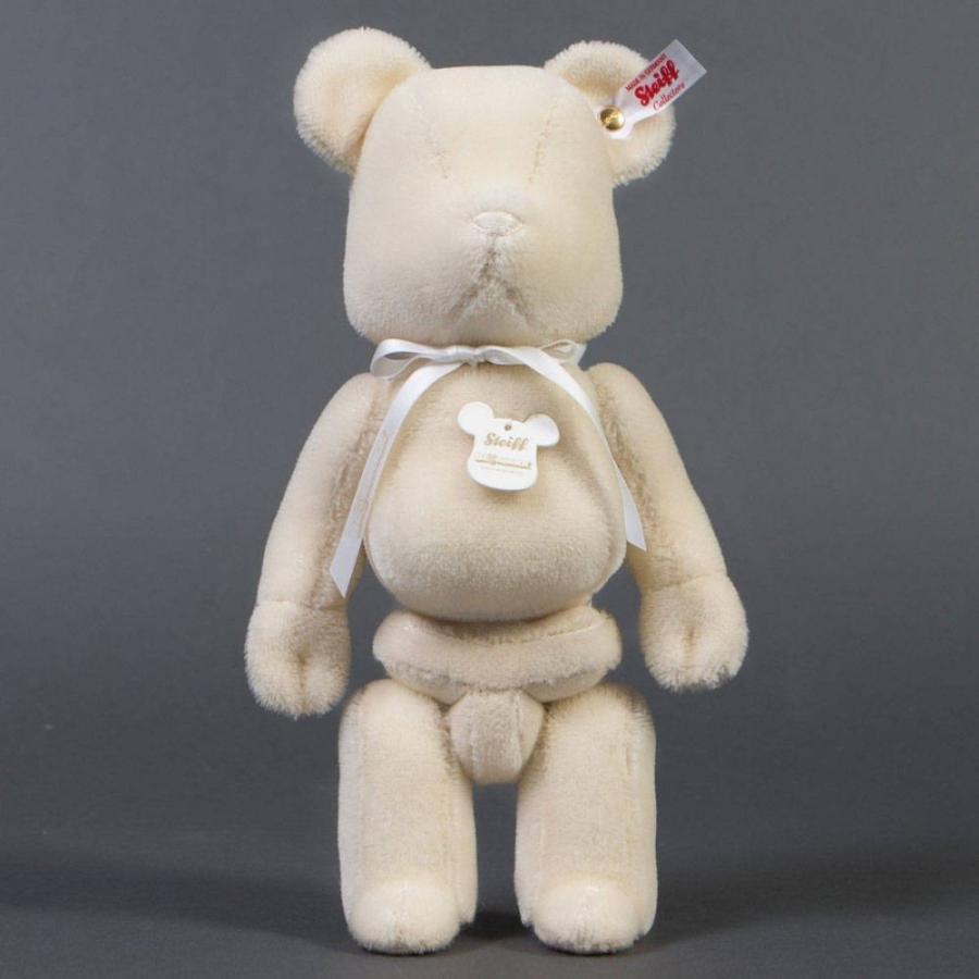 ベアブリック Bearbrick フィギュア x steiff 白い 400% bearbrick 白い