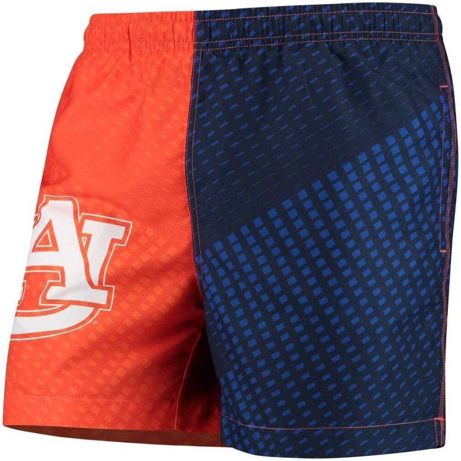フォーエバー Forever Collectibles メンズ 海パン 水着・ビーチウェア Auburn Tigers Color Block Swim Trunks - Navy/オレンジ