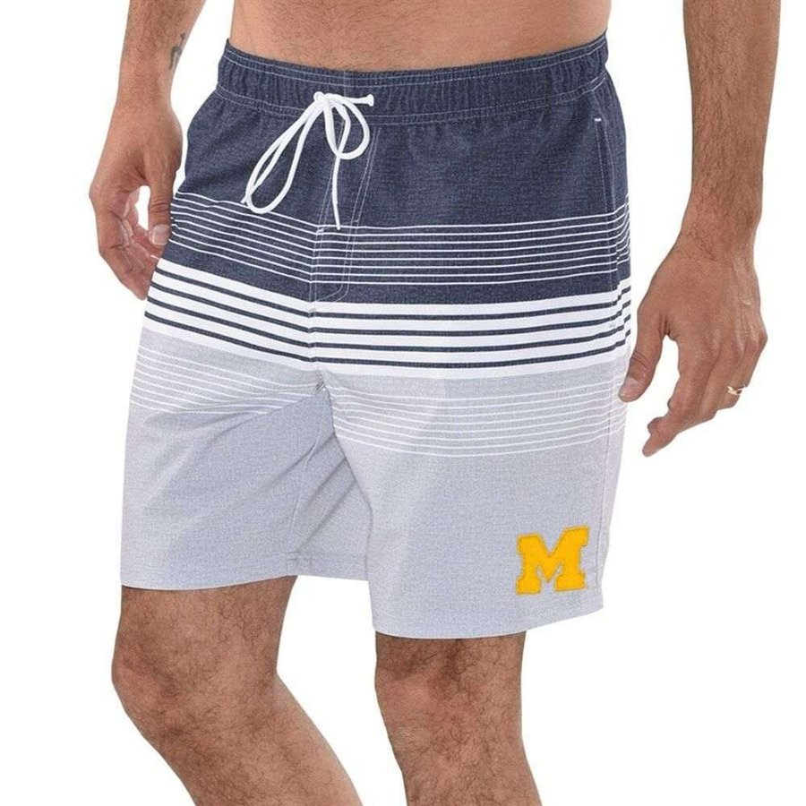 カール バンクス G-III Sports by Carl Banks メンズ 海パン 水着・ビーチウェア Michigan Wolverines Warm Up Volley Swim Short - Navy