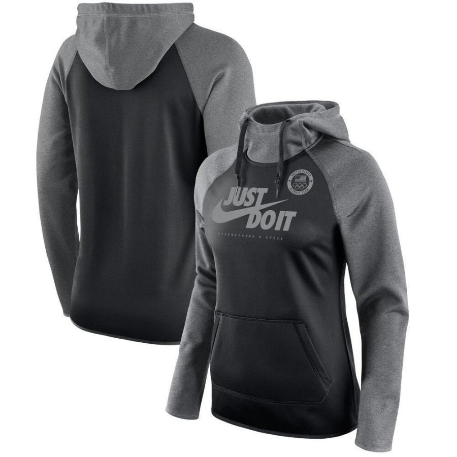 多様な ナイキ Nike レディース パーカー ラグラン トップス Team USA All Time Raglan Performance Pullover Hoodie - Black Black, 業務用食器の食器プロ c3ce30e2