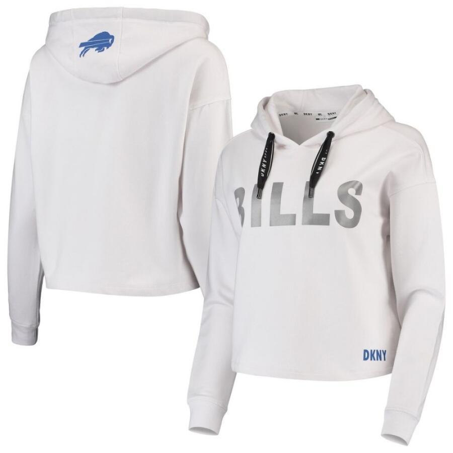 オープニング 大放出セール ダナ キャラン ニューヨーク DKNY Sport Sport White レディース パーカー トップス Buffalo Crop Bills Maddie Crop Pullover Hoodie - White White, 帯広市:dce14fa2 --- fresh-beauty.com.au