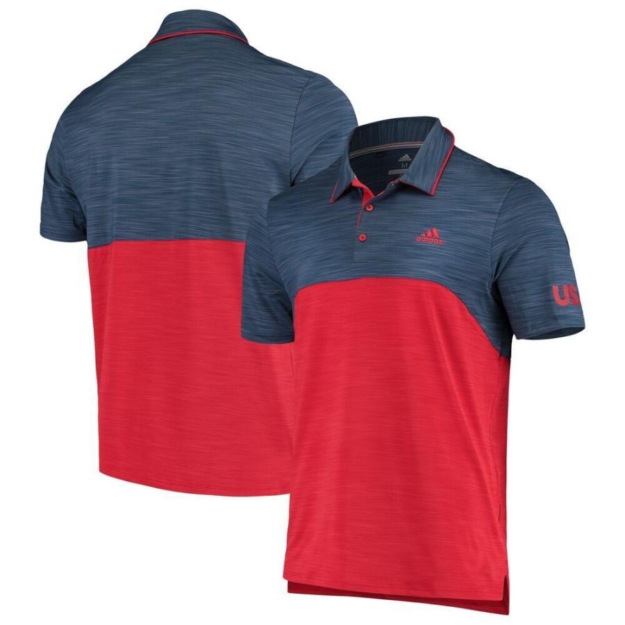 アディダス adidas メンズ ゴルフ ポロシャツ トップス Official USA Golf Ultimate 365 Blocked Golf Polo - Heather Royal Heather Royal