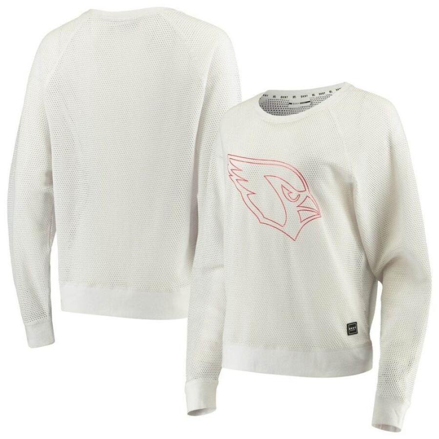低価格の ダナ キャラン ニューヨーク DKNY Sport レディース 長袖Tシャツ トップス Arizona Cardinals Lauren Mesh Raglan Long Sleeve T-Shirt - White White, 【日本製】 cdb22eec