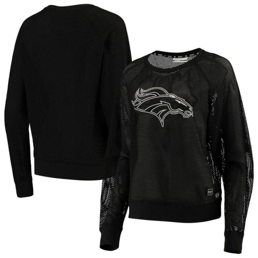 お手頃価格 ダナ キャラン ニューヨーク DKNY Sport レディース 長袖Tシャツ ラグラン トップス Denver Broncos Lauren Mesh Raglan Long Sleeve T-Shirt - Black Black, かばん専門ショップ Water mode b669ee8c