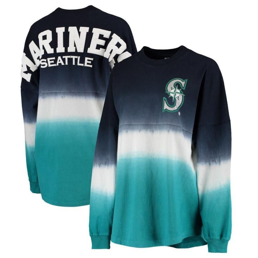 【驚きの値段】 ファナティクス ブランデッド Fanatics Branded レディース 長袖Tシャツ Seattle Mariners Oversized Long Sleeve Ombre Spirit Jersey T-Shirt - Navy, 卓球通販たくつう 7520bbd9