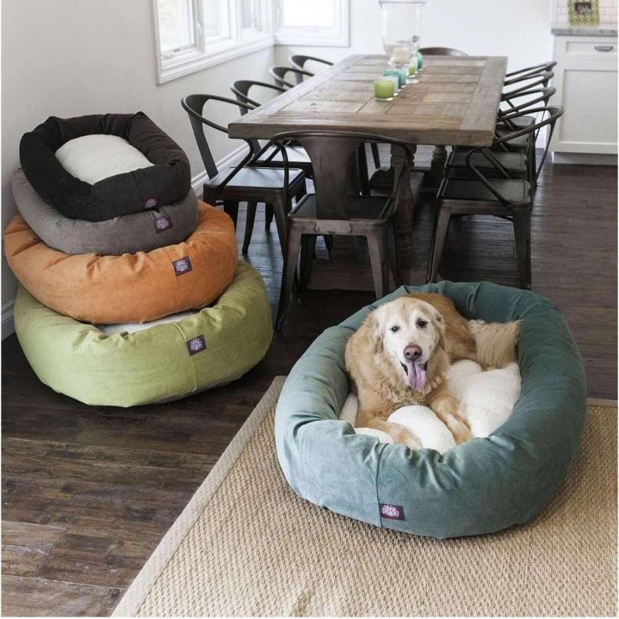 Majestic Pet マジェスティックペット ペットグッズ 犬用品 ベッド・マット・カバー ベッド Villa Micro-Velvet Sherpa Bagel Dog Bed|fermart-hobby|09