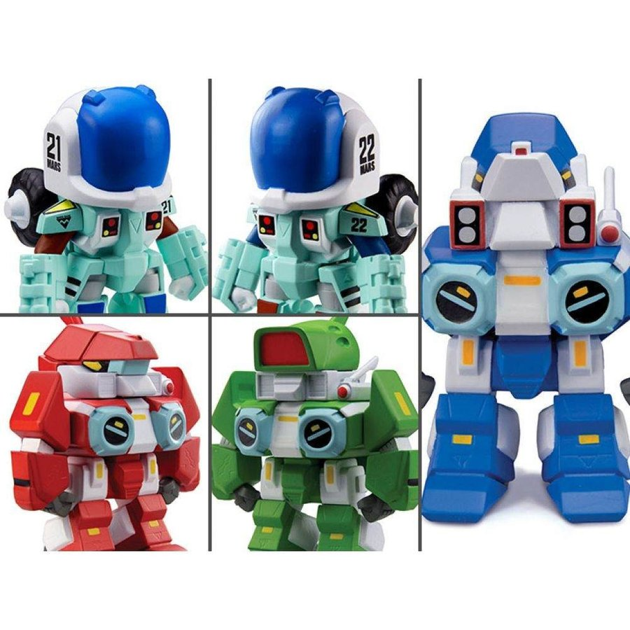 ロボテック ROBOTECH フィギュア robotech: the new generation box of 15 super deformed figurines