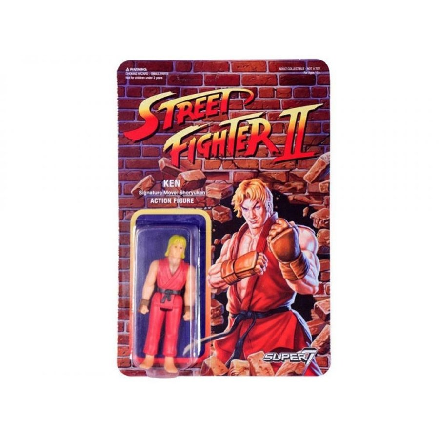 STREET FIGHTER フィギュア Street Fighter II Retro Action Ken Figure