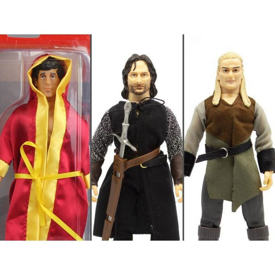 ロッキー ROCKY フィギュア rocky & the lord of the rings set of 3 mego 8