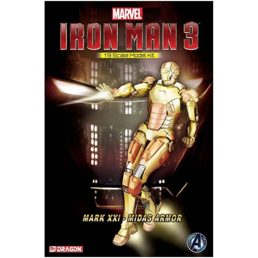 アイアンマン Iron Man プラモデル 3 Mark 21 Midas Armor Electroplating Version Model Kit