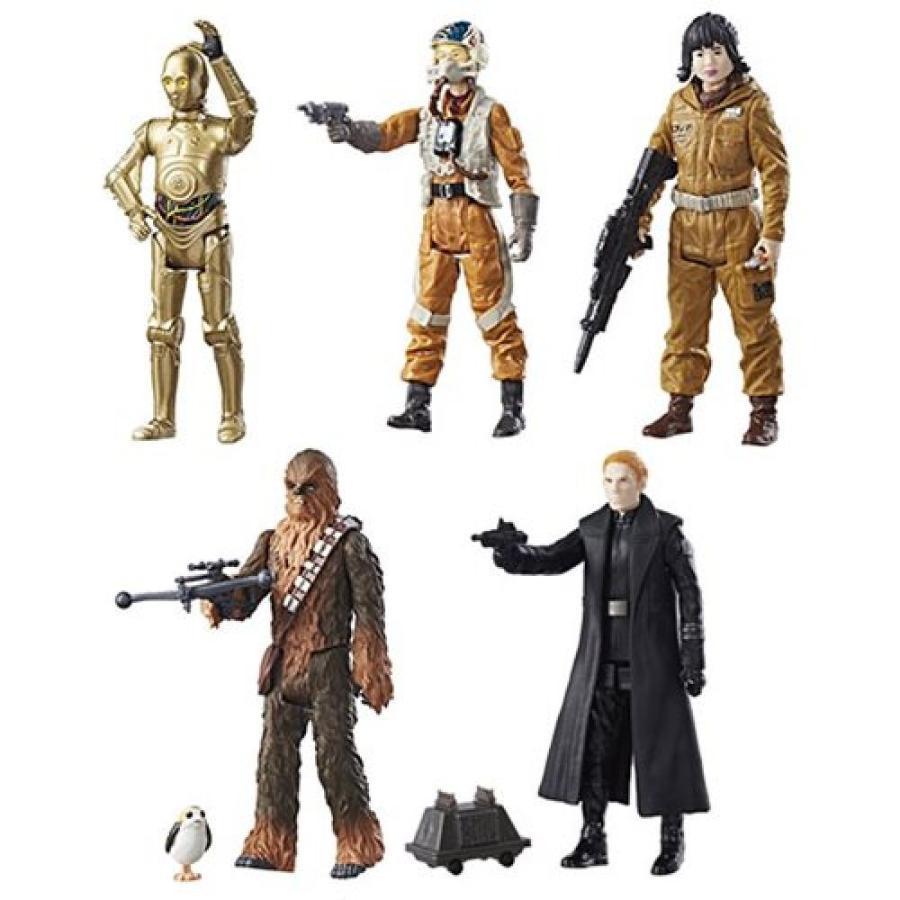 スターウォーズ Star Wars 可動式フィギュア : The Last Jedi Teal 3 3/4-Inch Action Figures Wave 1 Case