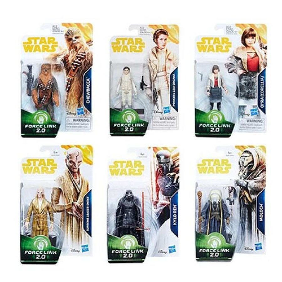 スターウォーズ Star Wars 可動式フィギュア Solo Force Link 3 3/4-Inch Action Figures Wave 2 Set