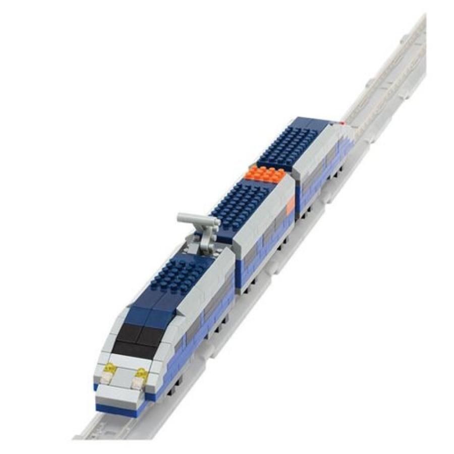 トレイン Trains フィギュア 青 Bullet Train Nanoblock Constructible Figure