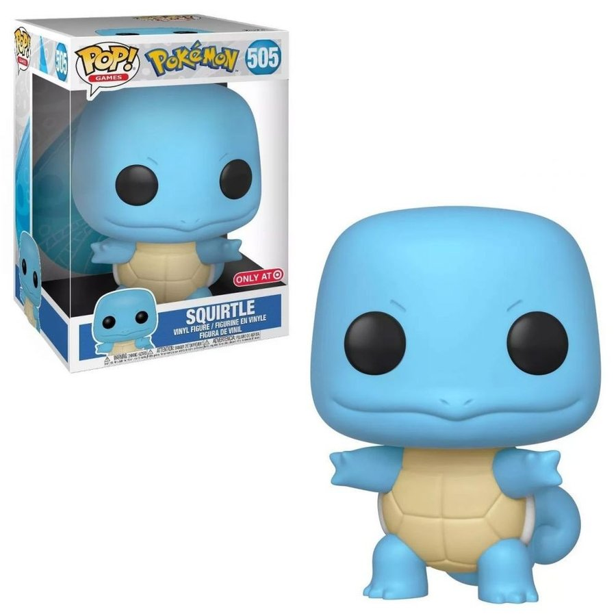 ポケットモンスター Pokemon フィギュア ビニールフィギュア POP! Games Squirtle Exclusive 10-Inch Vinyl Figure [Super-Sized]