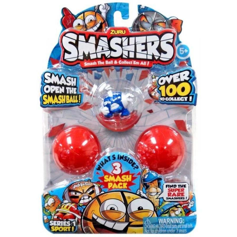Zuru Zuru Toys フィギュア 3点セット Smashers Series 1 Sport! Super Brawl Mini Figure 3-Pack [青]