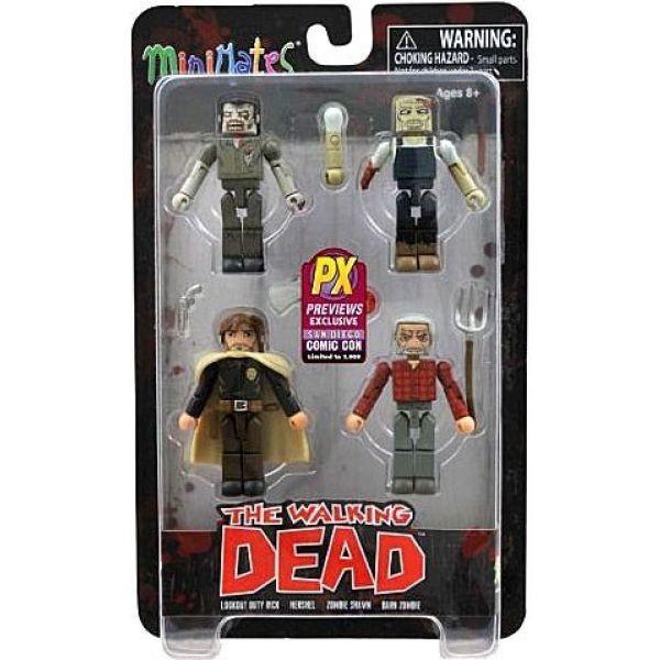 ウォーキング デッド The Walking Dead フィギュア 4点セット Minimates Exclusives Herschels Farm Exclusive Minifigure 4-Pack