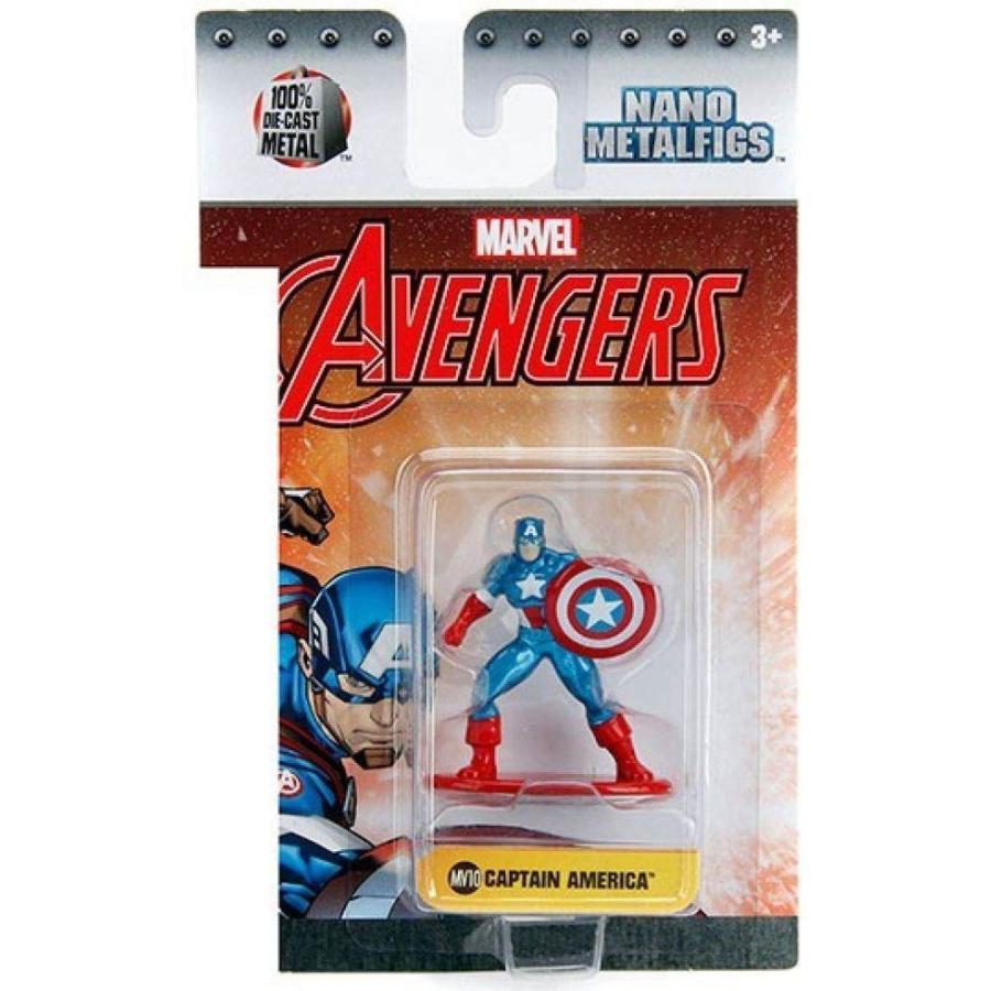 マーベル Marvel フィギュア Avengers Nano Metalfigs Captain America 1.5-Inch Diecast Figure MV10