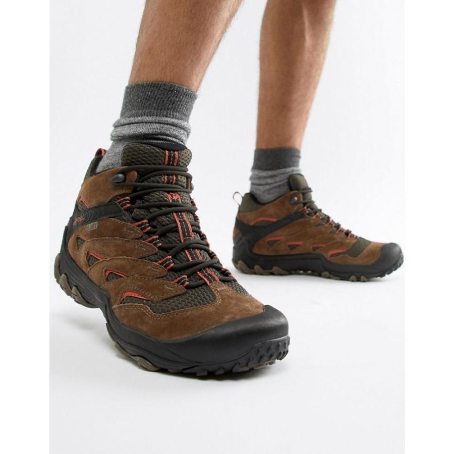 メレル Merrell メンズ シューズ・靴 ハイキング・登山 Chameleon 7 Limit hiking festival boots in 褐色 褐色