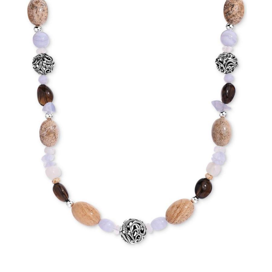 【予約受付中】 キャロライン ポラック Carolyn Pollack メンズ ネックレス Multi-Gemstone Statement Necklace in Sterling Silver19
