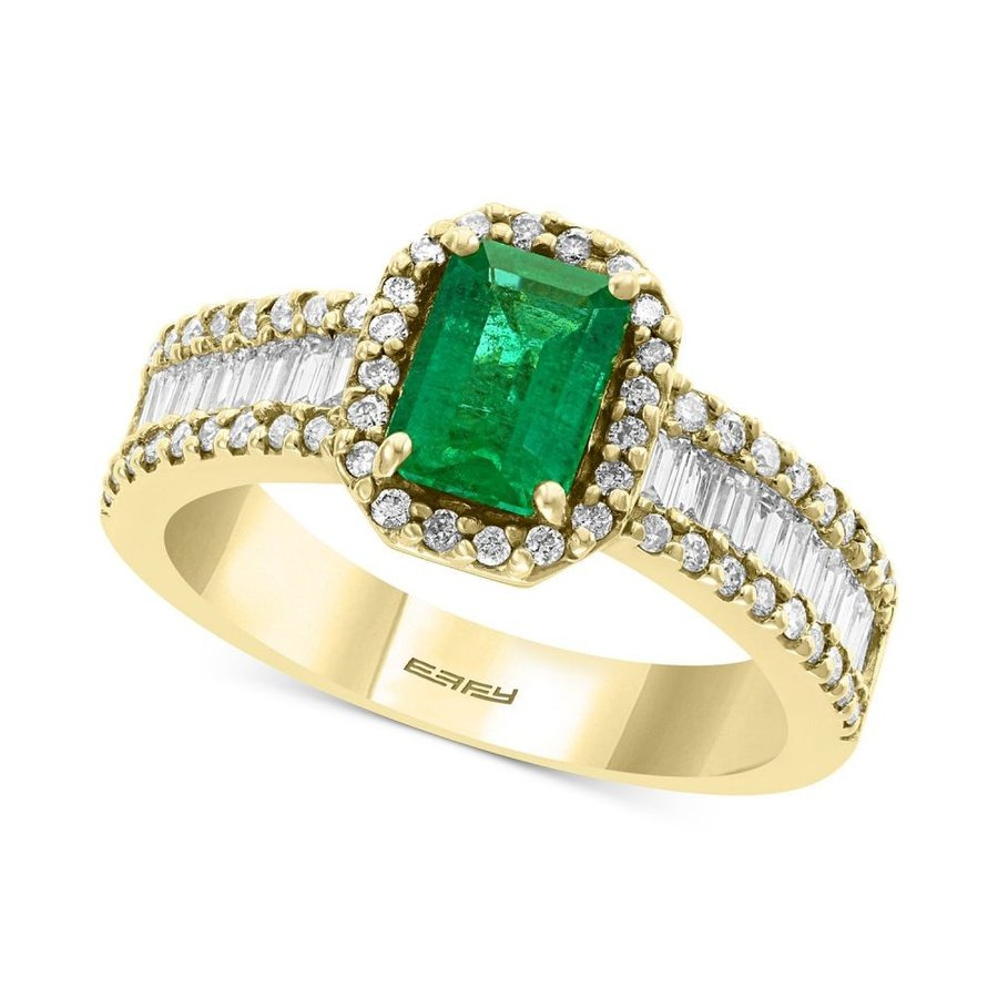 人気カラーの エフィー Ring EFFY Collection ユニセックス 指輪・リング Gold EFFY Collection Diamond (5/8 ct. t.w.) & Emerald (9/10 ct. t.w.) Ring in 14k Yellow Gold Emerald, 本城村:c292854e --- airmodconsu.dominiotemporario.com