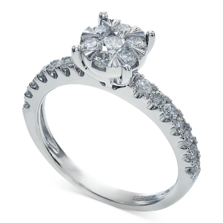 輝い エフィー EFFY ct. Collection Gold ユニセックス (3/4 指輪・リング Bouquet by EFFY Diamond Engagement Ring in 14k White Gold (3/4 ct. t.w.) White Gold, 花水木:c86abd87 --- airmodconsu.dominiotemporario.com