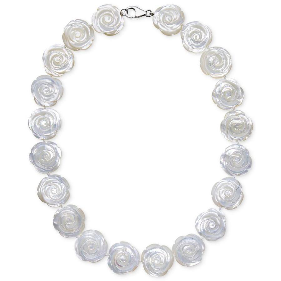 【好評にて期間延長】 メイシーズ Macy's ユニセックス ネックレス ジュエリー・アクセサリー Mother of Pearl Flower Collar Necklace in Sterling Silver (20mm) No Color, スポーツマート 5f38d76d