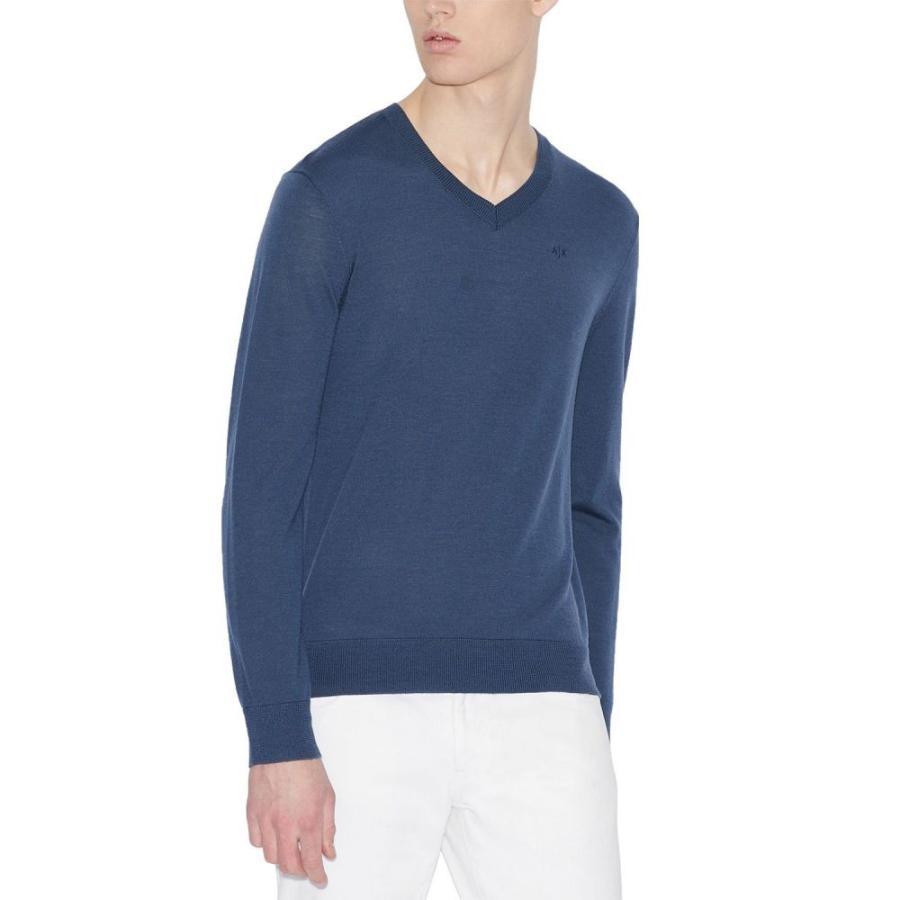 優先配送 アルマーニ A|X Armani Exchange メンズ ニット Armani Dark・セーター Vネック A|X トップス V-Neck Wool Sweater Dark Green, 寒川町:adbf5201 --- sonpurmela.online