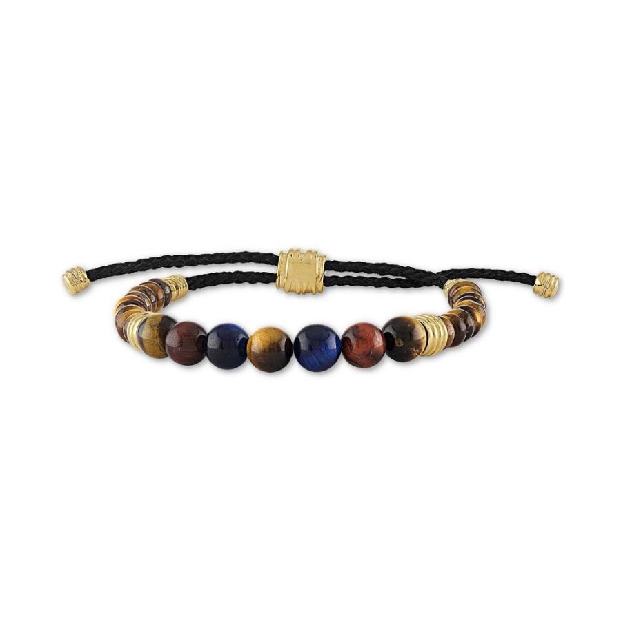 買得 エスクァイア Esquire Bracelet Men's Men's Jewelry ユニセックス Boho ブレスレット Multicolor Tiger's Eye Bead Boho Bracelet in 14k Gold-Plated Sterling Silver, Saks WebShop:8b3ba05f --- airmodconsu.dominiotemporario.com