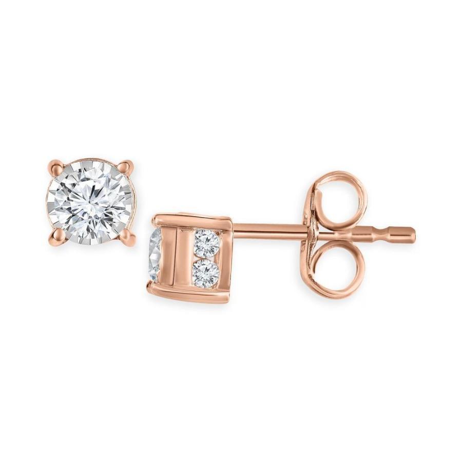 爆買い! トゥルーミラクル TruMiracle Stud レディース イヤリング 14K・ピアス Diamond Stud Diamond Earrings (1/2 ct. t.w.) in 14k White Gold14K Gold or 14K Rose Gold Rose Gold, its a beautiful music:babfc340 --- airmodconsu.dominiotemporario.com
