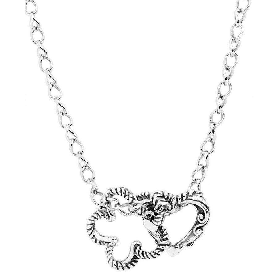65%OFF【送料無料】 キャロライン Sterling ポラック ハート Carolyn Pollack メンズ ネックレス ハート Silver ジュエリー・アクセサリー Heart and Flower Sterling Silver Necklace Silver, トギマチ:1f057d26 --- airmodconsu.dominiotemporario.com