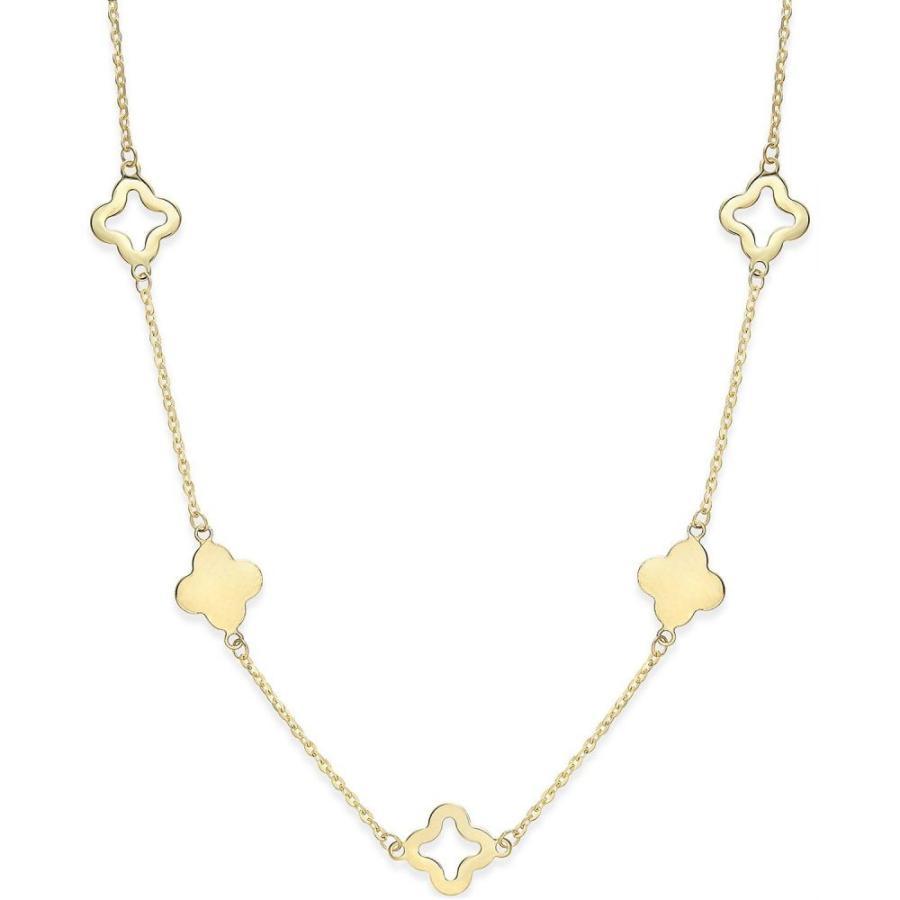 【メーカー直送】 メイシーズ Macy's ユニセックス ネックレス ジュエリー・アクセサリー Clover Necklace in 14k Gold Yellow Gold, 電動バイクなら中日交易 8b25c447