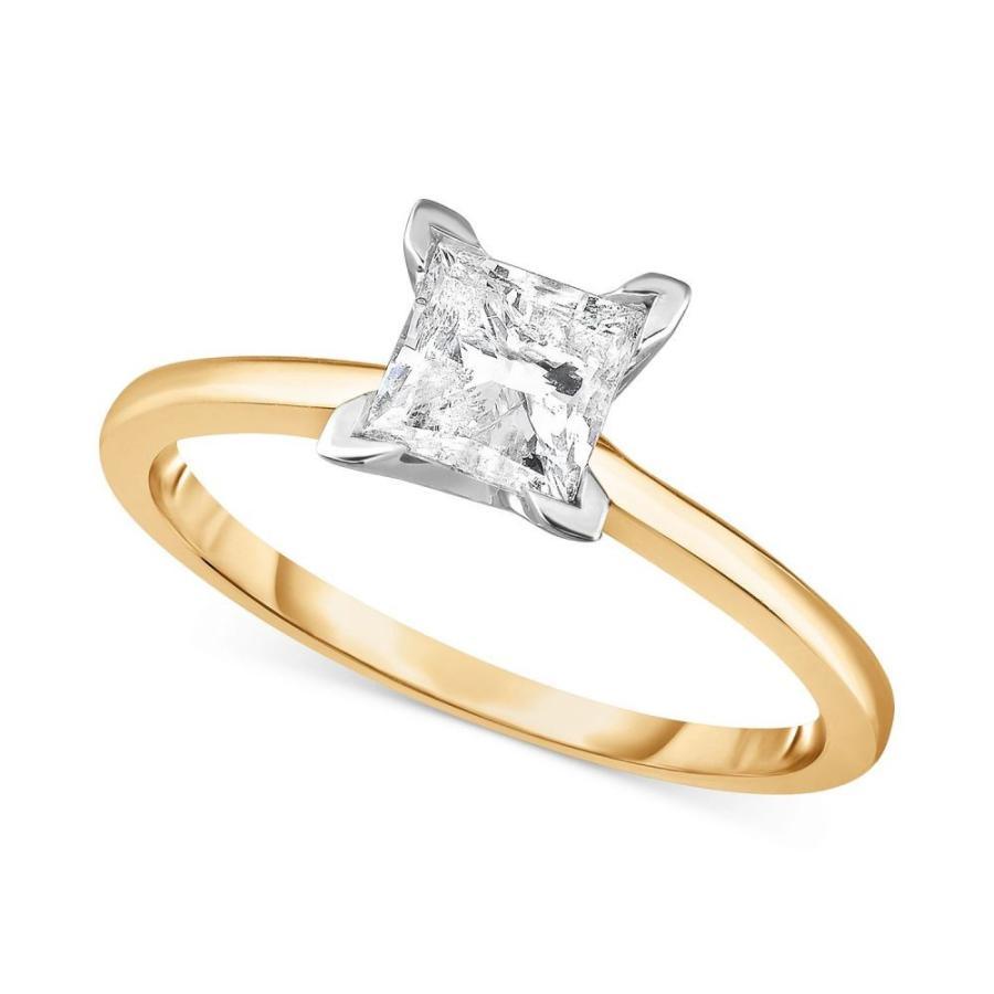 【テレビで話題】 メイシーズ Macy's レディース 指輪・リング Diamond Princess Engagement Ring (1.0 ct. t.w.) in 14k White Gold, Rose Gold or Yellow Gold., 京都宇治 辻利兵衛本店 b5434f00