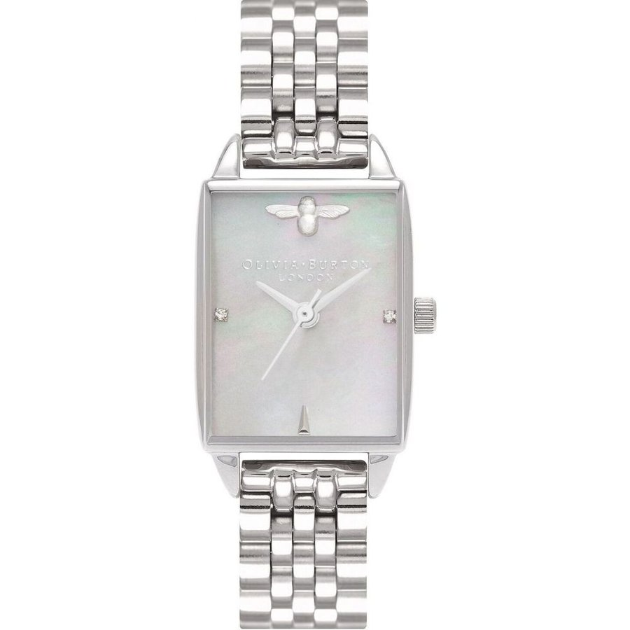 100%安い オリビア バートン Olivia Burton レディース 腕時計 ブレスレットウォッチ Bee Hive Stainless Steel Bracelet Watch 20mm Silver, 最安価格 c9fe2800