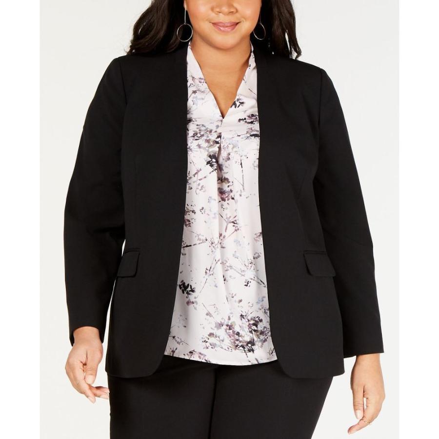 人気絶頂 バースリー Bar III レディース スーツ・ジャケット アウター Plus Size Open-Front Blazer Charcoal Grey, 紫波町 b03dc063