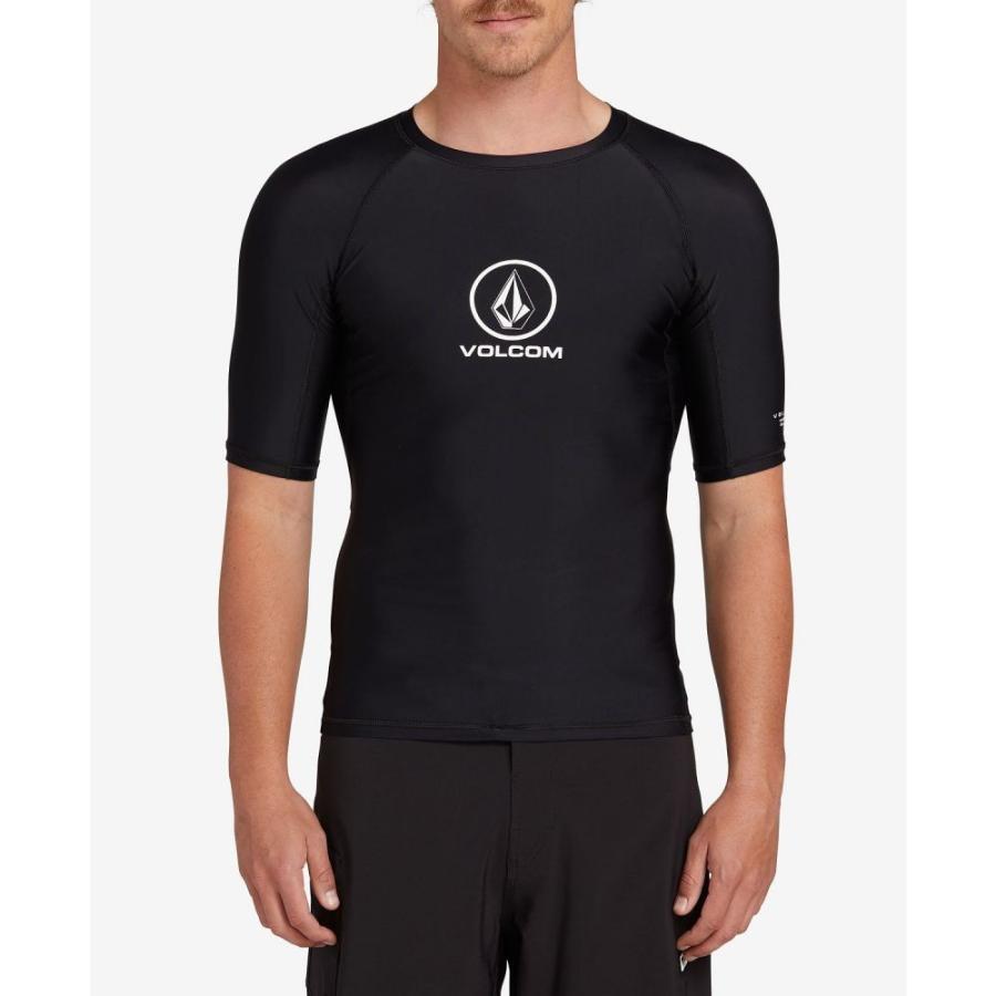 ボルコム Volcom メンズ ラッシュガード 水着・ビーチウェア Lido Solid Short Sleeved Rashguard 黒