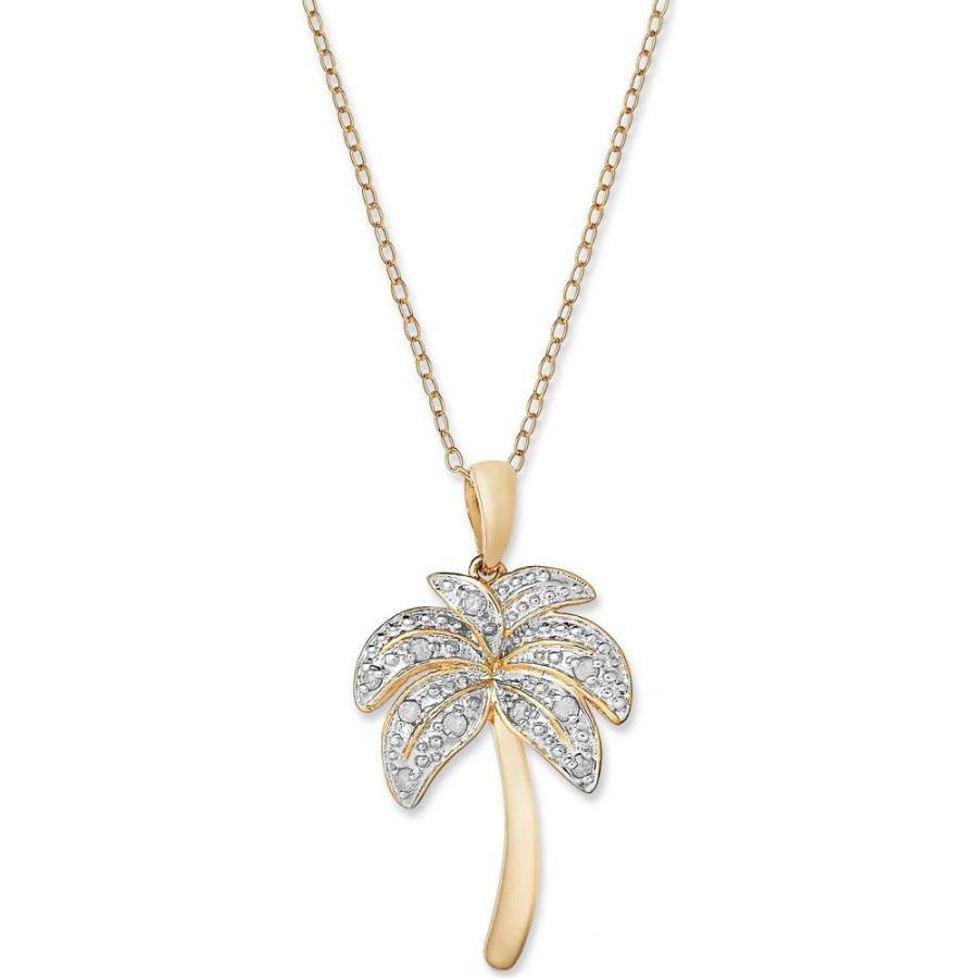 おすすめ メイシーズ Macy's ユニセックス over ネックレス Diamond Palm Tree Gold Pendant Necklace ct. in 18k Gold over Sterling Silver and Sterling Silver (1/10 ct. t.w.), ニシウスキグン:1c8d4852 --- airmodconsu.dominiotemporario.com