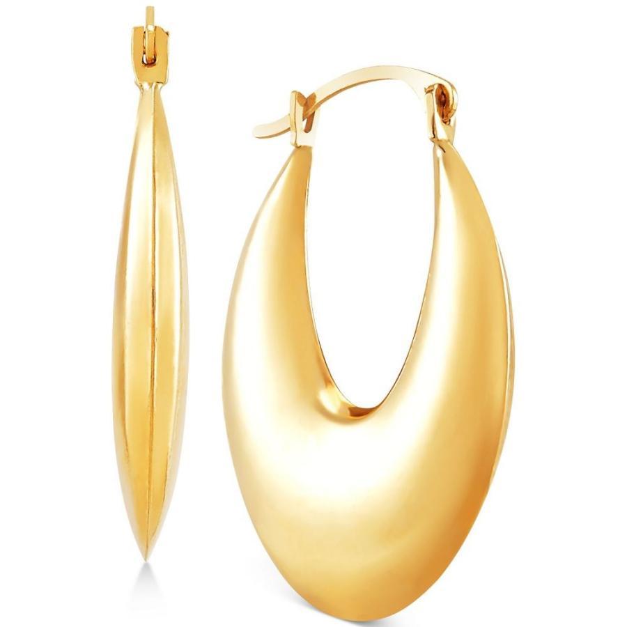 売れ筋商品 メイシーズ Macy's レディース Earrings イヤリング・ピアス ジュエリー・アクセサリー Gold Puff Puff Oval Hoop Earrings in 10k Gold Gold, おつまみスタジオことの葉:e0097e1f --- airmodconsu.dominiotemporario.com