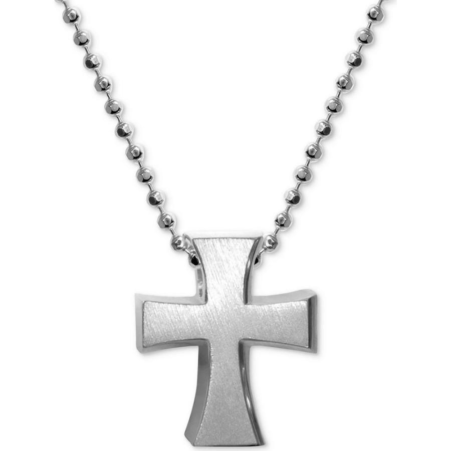 【当店一番人気】 アレックス ウー Alex Woo メンズ ネックレス ジュエリー・アクセサリー Cross Pendant Necklace in Sterling Silver Silver, ベンテン e0c98b97