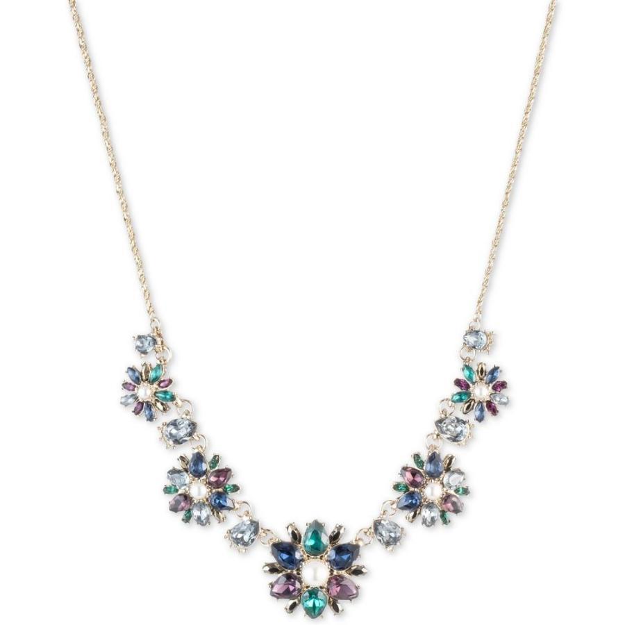 熱い販売 ノッテ バイ マルケッサ バイ Marchesa ユニセックス ネックレス Gold-Tone Crystal, Stone Necklace, Blue & Imitation Pearl Collar Necklace, 16