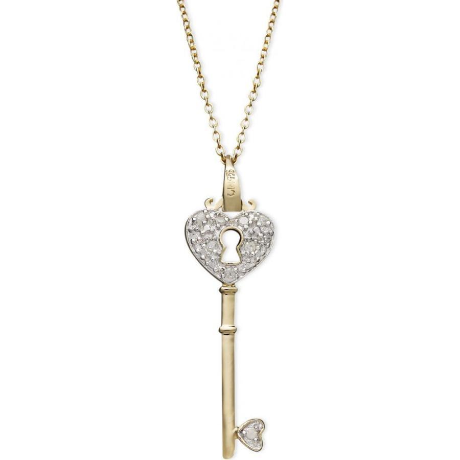 最も完璧な メイシーズ ct. Macy's レディース ネックレス Gold Diamond Heart t.w.) Lock Key Pendant Necklace in 18k Gold over Sterling Silver(1/10 ct. t.w.), 魅力の:46157f9f --- airmodconsu.dominiotemporario.com