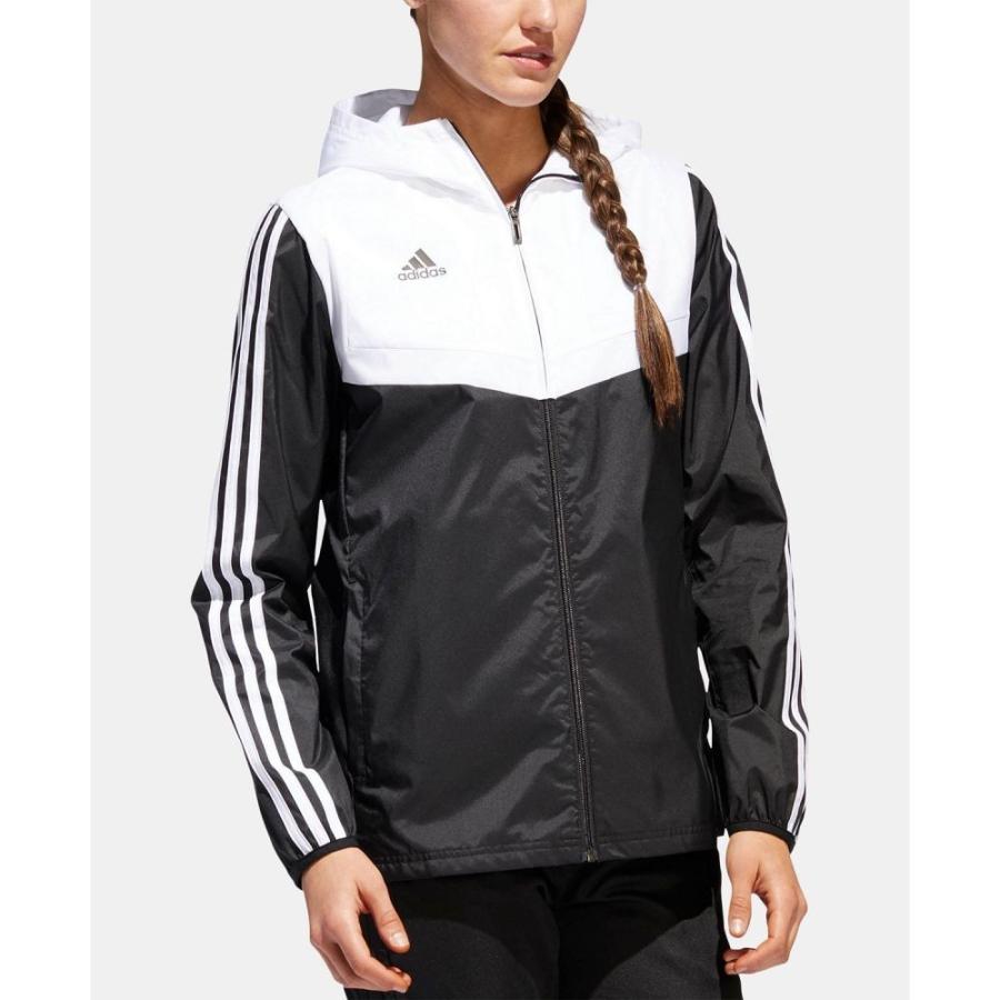アディダス adidas レディース アウター サッカー Tiro Soccer Jacket 黒/白い
