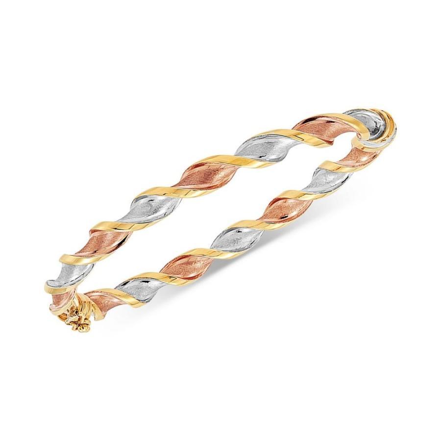 安い割引 メイシーズ Macy's レディース ブレスレット バングル Tricolor Twisted Bangle Bracelet in 14k GoldWhite Gold & Rose Gold Tricolor, アリダグン 39c0faba