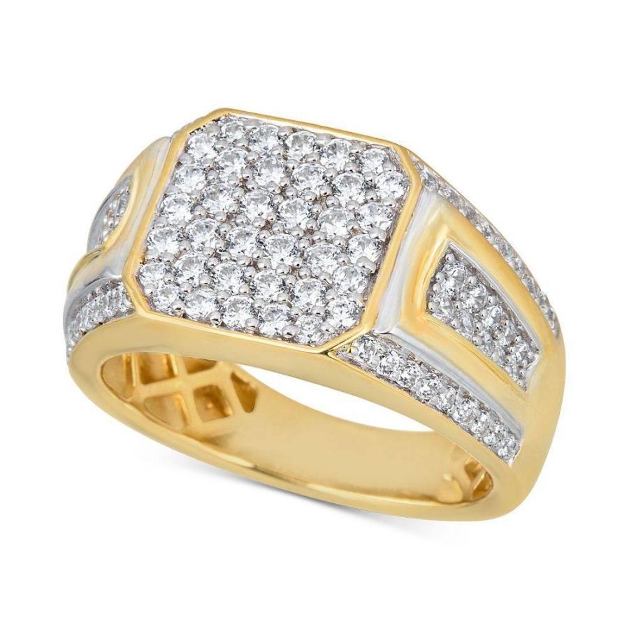 【超目玉】 メイシーズ Gold Macy's Diamond ユニセックス 指輪・リング ジュエリー・アクセサリー Diamond Cluster Two-Tone Ring (1-1/2 ct. t.w.) in 10k Gold Two-Tone, カメラ虎の穴:b6b8c10d --- airmodconsu.dominiotemporario.com