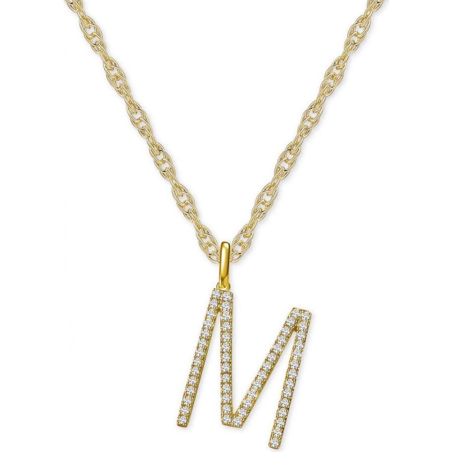 【2019春夏新色】 メイシーズ Macy's メンズ ネックレス ジュエリー・アクセサリー Diamond Initial 18
