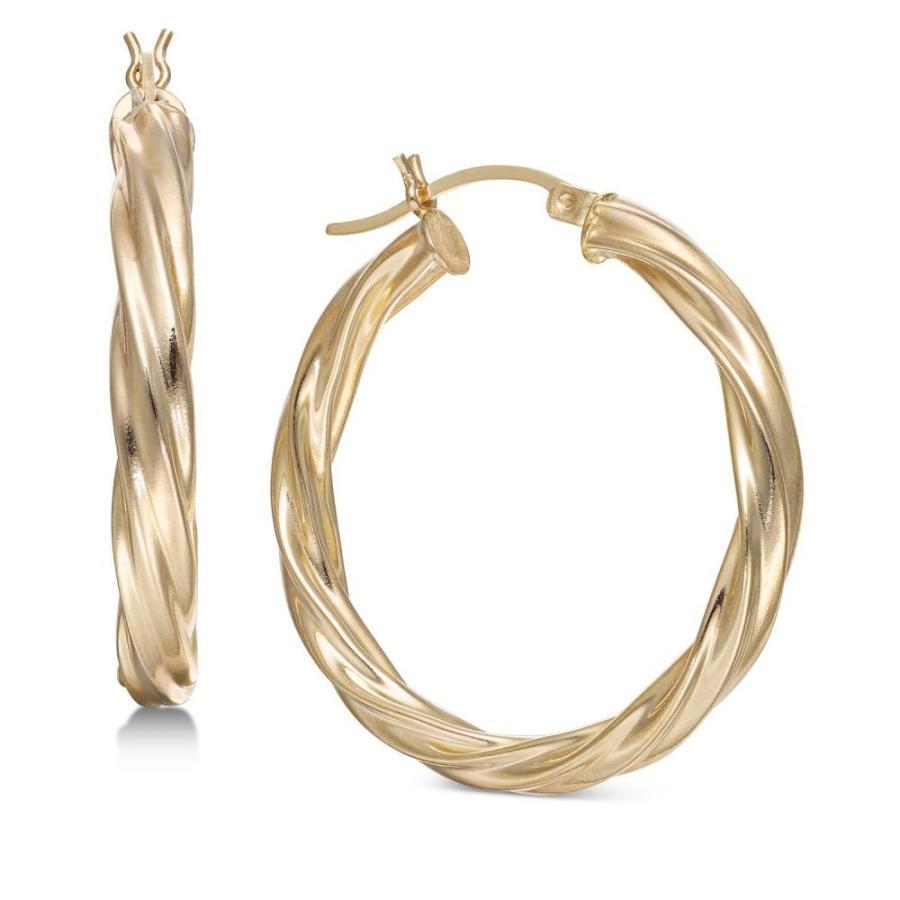 出産祝い メイシーズ Macy's レディース イヤリング・ピアス Macy's in ジュエリー・アクセサリー Medium メイシーズ Twist Hoop Earrings in 14k Gold Gold, 誉ディスプレイ:01d819fc --- airmodconsu.dominiotemporario.com